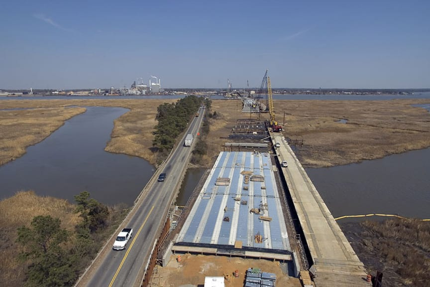Route 33 over the Pamunkey River-West Point, VA: Ground improvements and 1,000 LF of bascule span bridge approach structure