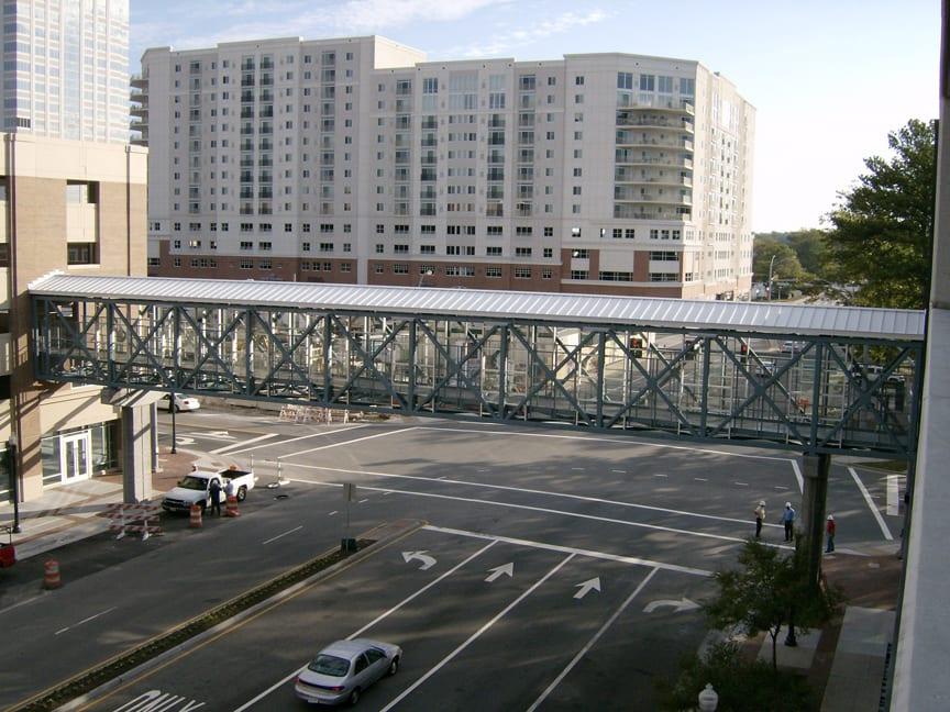 Completed Pedestrian Bridge over Columbus Street