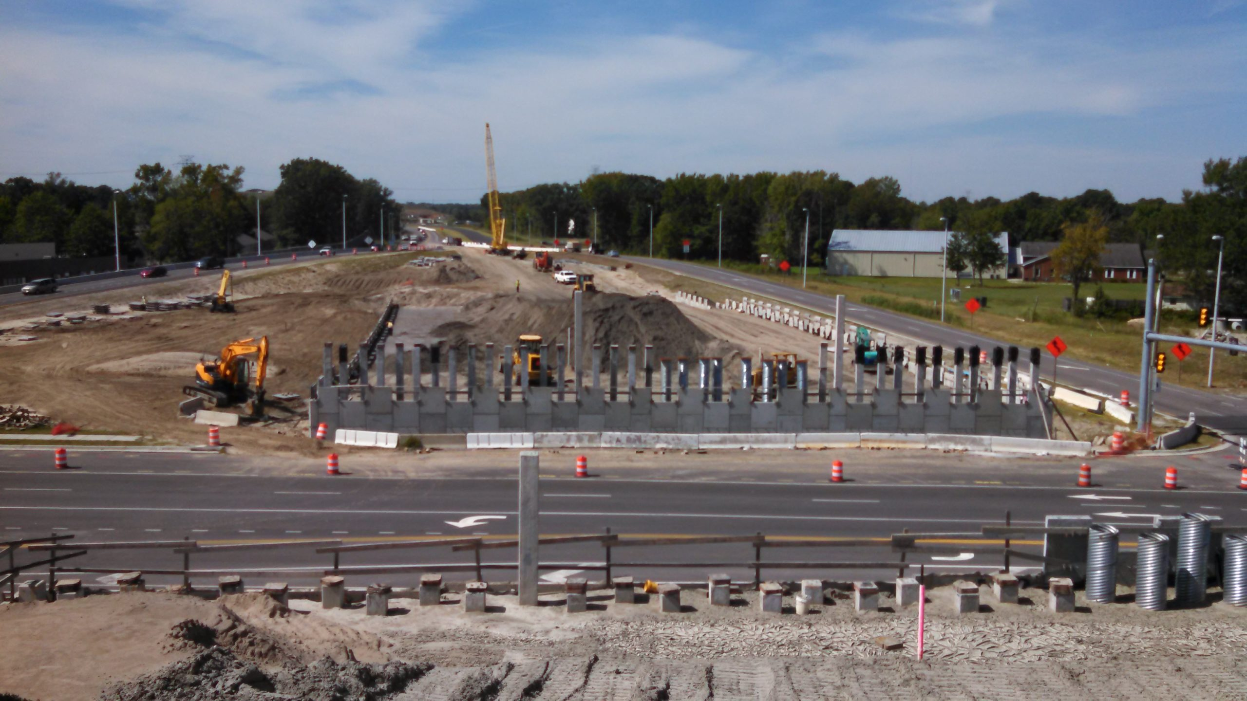 MSE walls and abutments for bridges over Great Bridge Blvd.