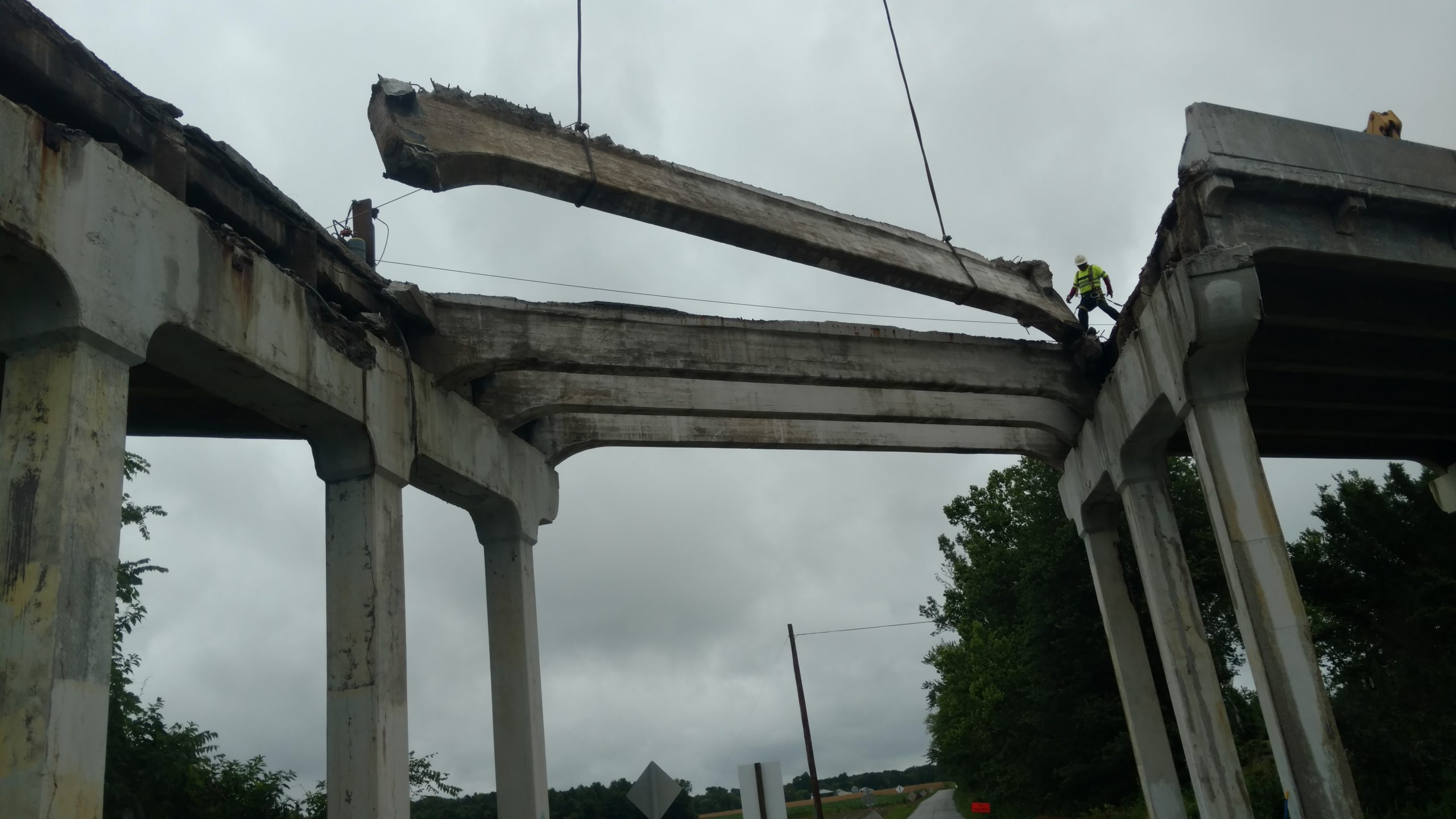 Removal of existing bridge beams over Rte. 632
