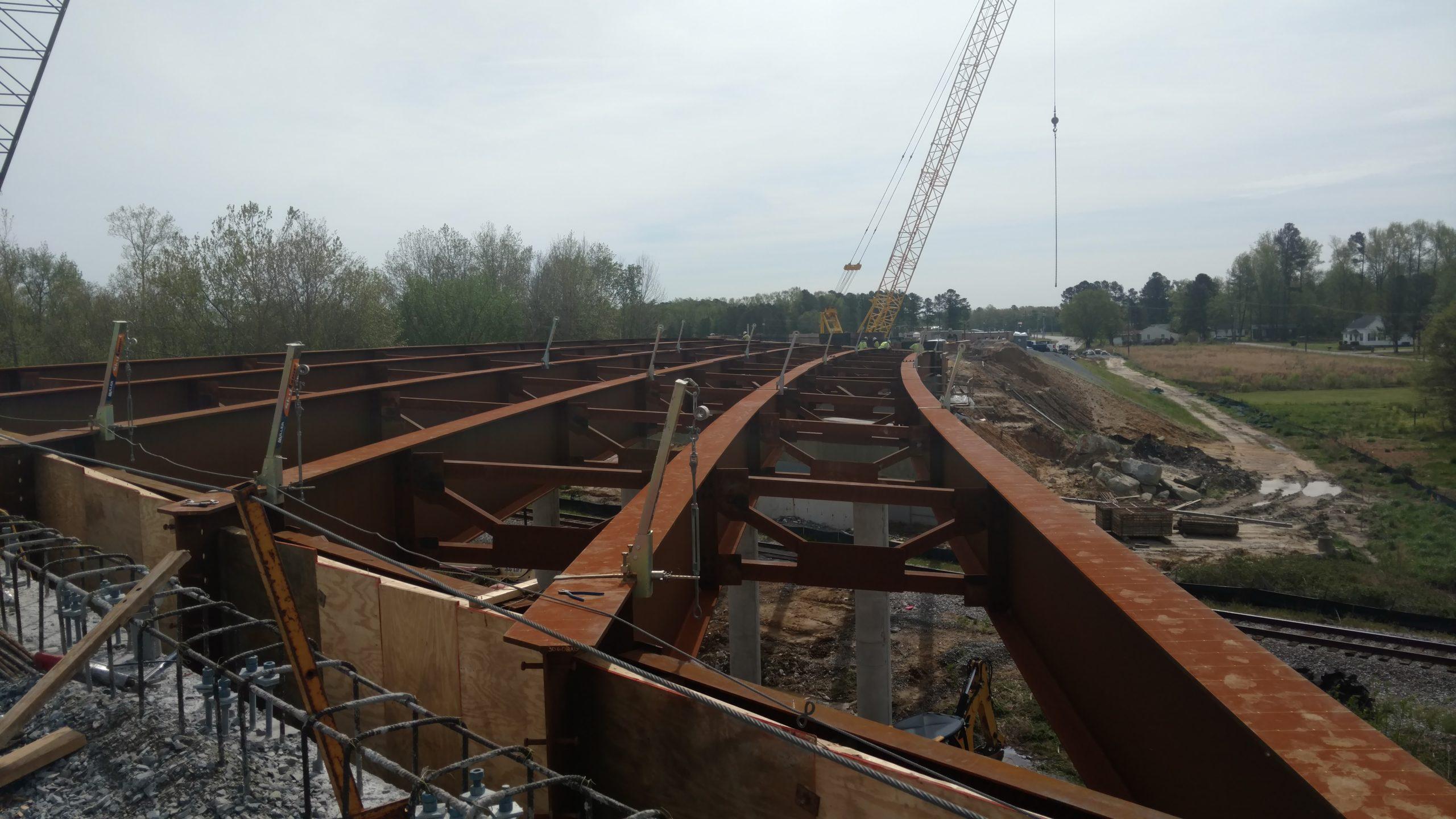 Curved steel girders
