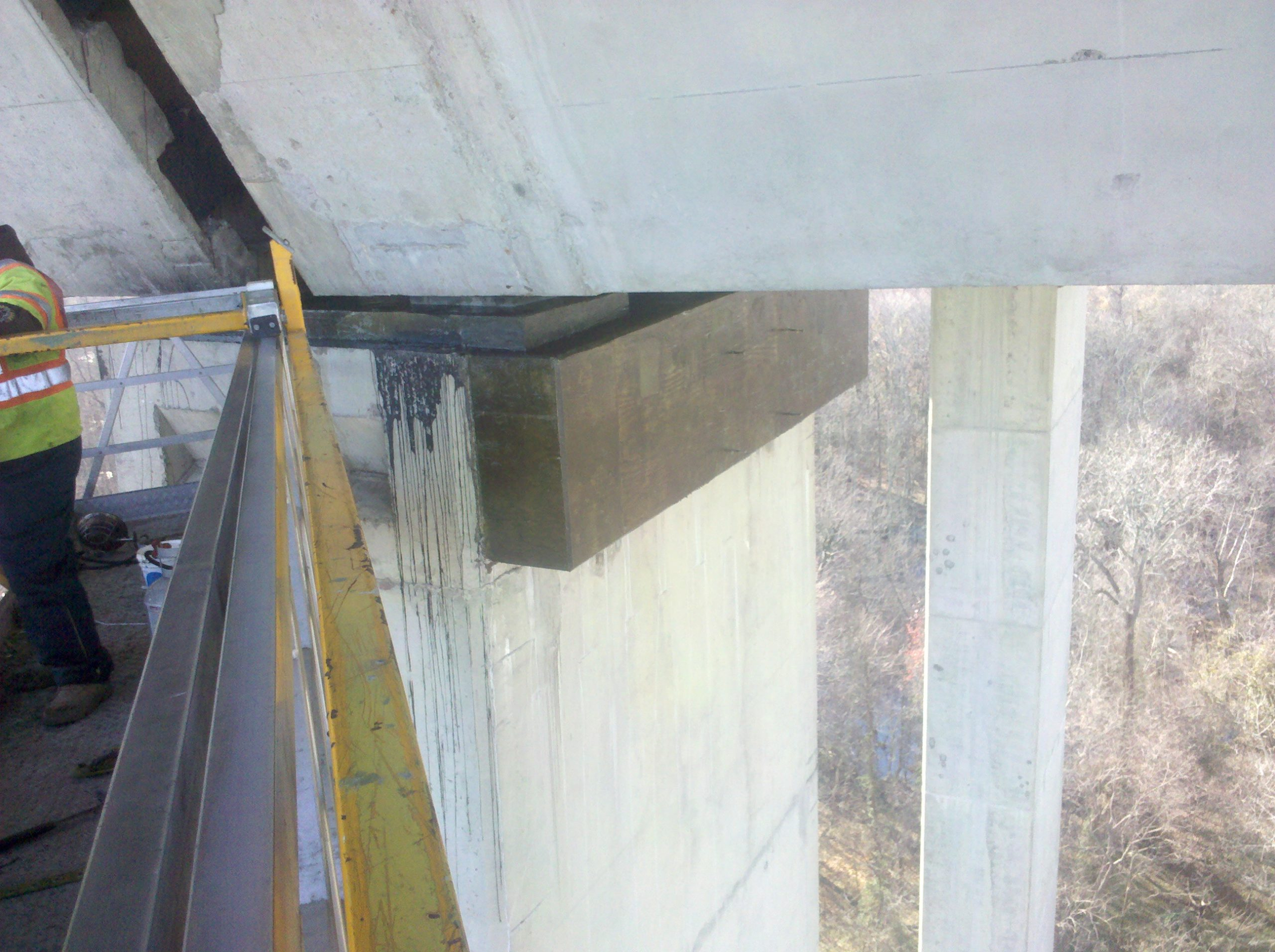 I-295 over the James River-Henrico Co., VA: Pier extension and repair of existing bearings
