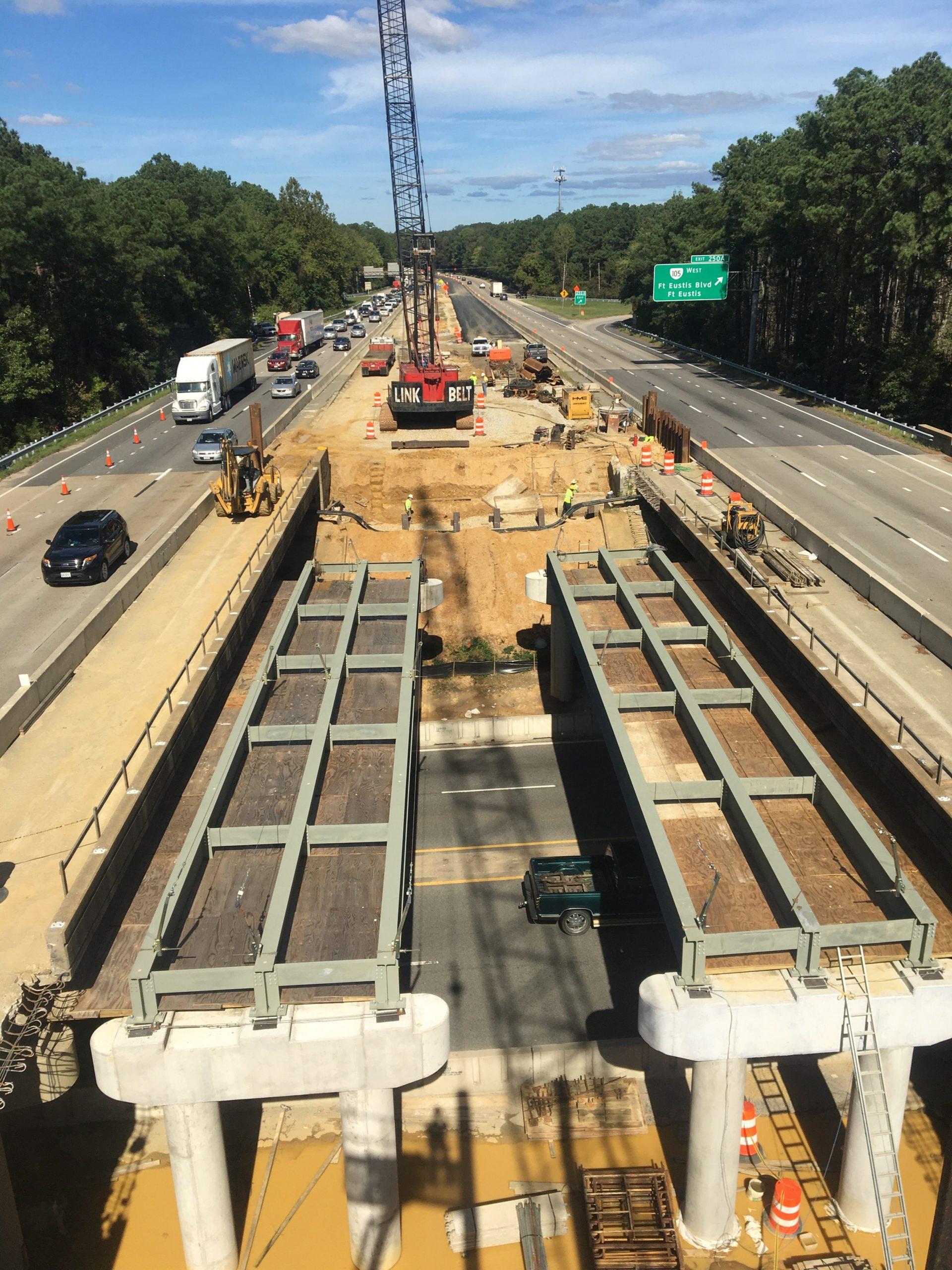 I-64 over Ft. Eustis Blvd.-Newport News, VA: Widening of the existing bridges for the I-64 Capacity Improvements-Segment I project