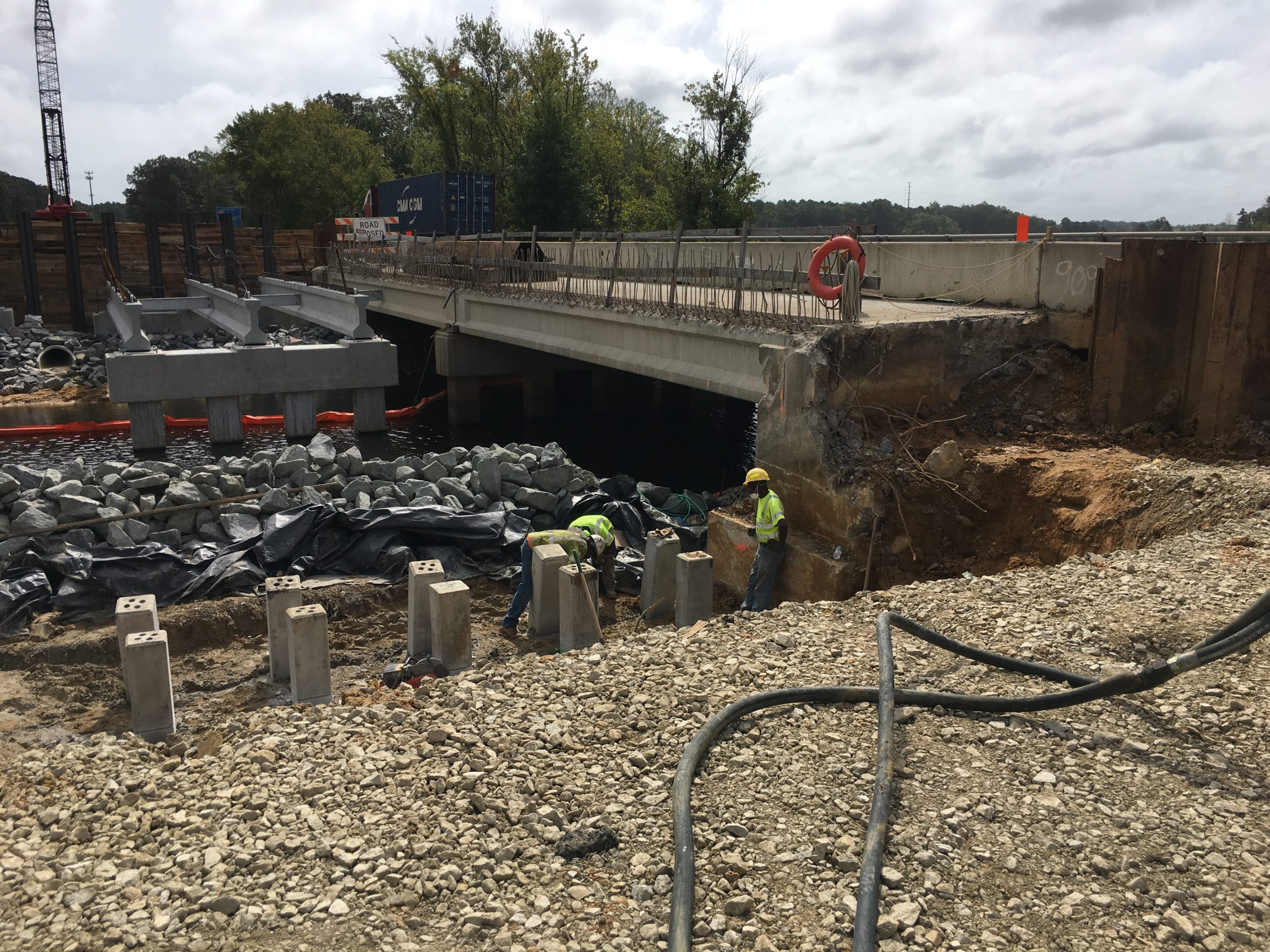 I-64 over Lee Hall Reservoir-Newport News, VA: Widening of the existing bridges for the I-64 Capacity Improvements-Segment I project