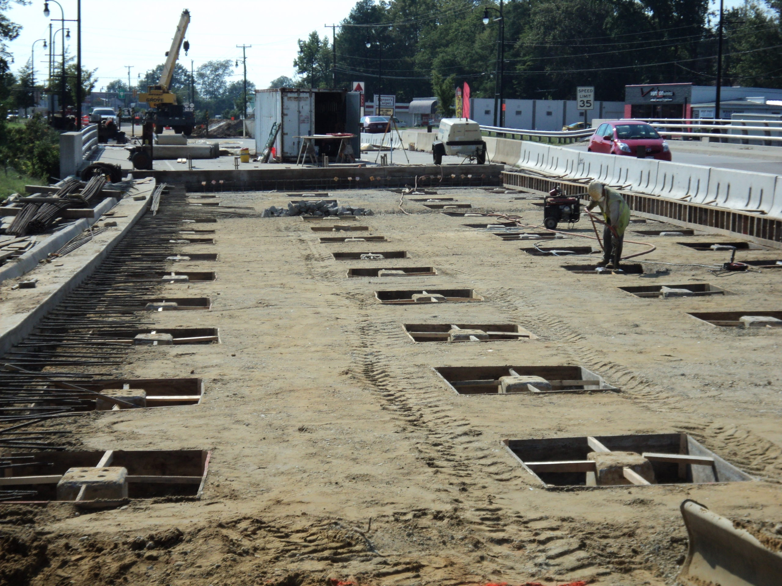 Route 33-West Point, VA: Pile supported concrete slabs constructed due to excessive settlement of roadway